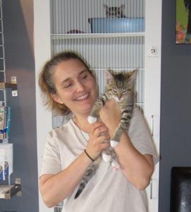 Kuza and his new mom