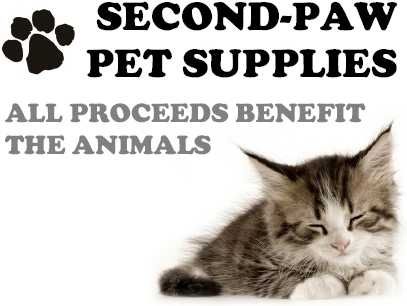 Second-paw pet supplies sign