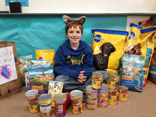 Spruce Elementary pet food drive