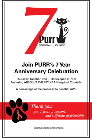 Purr Cocktail Lounge 7 Year Anniversary Party