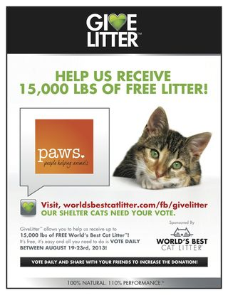 GiveLitter™ to PAWS
