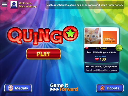 Play Quingo for PAWS